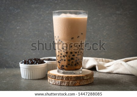 Taiwan milk tea with bubbles - popular Asian drink #1447288085