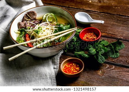 Taiwan Niu Rou Mian(Beef noodle soup, often referred to as beef noodles, is a Chinese and Taiwanese noodle soup made of stewed or red braised beef, beef broth, vegetables and Chinese noodles)