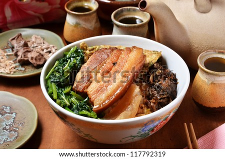 Taiwan's famous cuisine - stewed pork  and rice