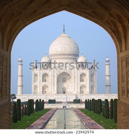 Taj Mahal (Agra, India) - stock photo