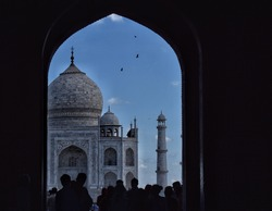 taj mahal, ancient indian building, white marble, blue marble, beautiful building in the world, seven world wonder, world wonder, tomb, symbol of love, emperor shajahan, memory of wife, gift for wife