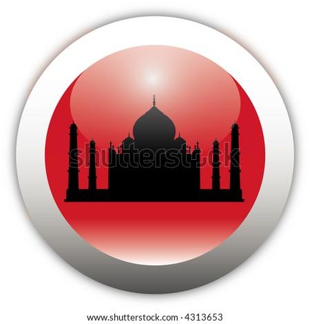 Taj Mahal Aqua Button