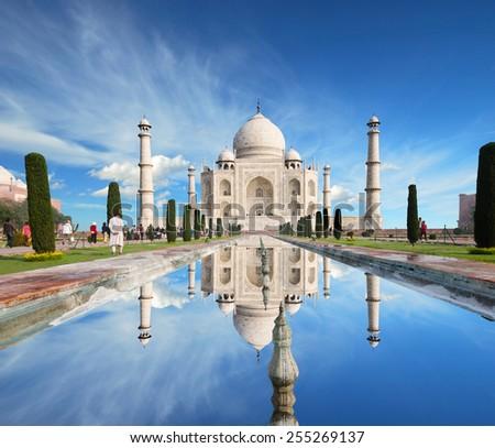 Taj Mahal in India  #255269137