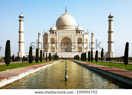 Taj Mahal in India, Agra, Uttar Pradesh