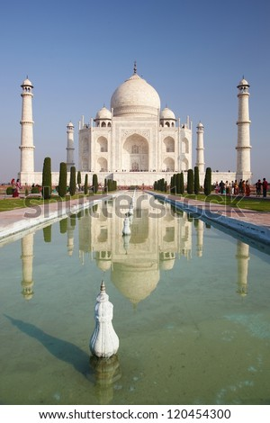 Taj Mahal in India, Agra, Uttar Pradesh - stock photo