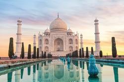 Taj Mahal in India without people, Agra