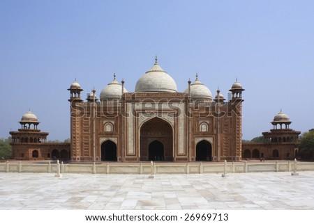 Taj Mahal mosque or masjid - stock photo