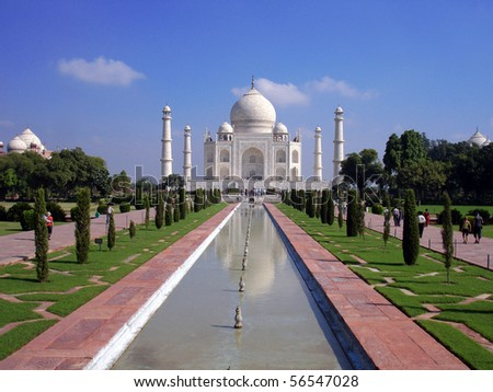 Taj Mahal, one of the most famous landmarks in Asia, Agra, India