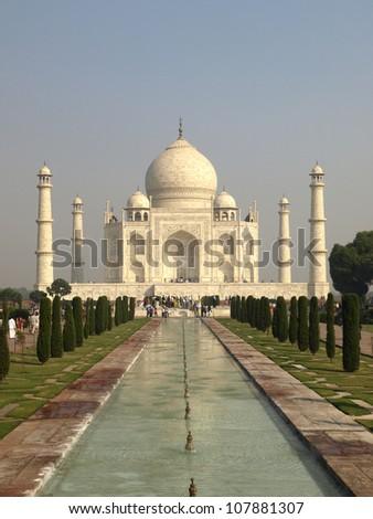 Taj Mahal seen from the entrance