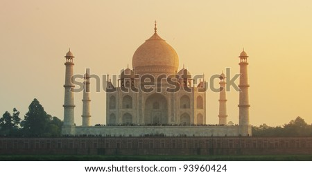 Taj Mahal sunset view - Agra, India