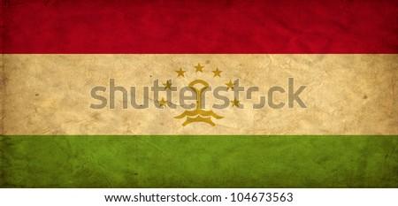 Tajikistan grunge flag
