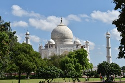 Tajmahal in different angles shajahan  beautiful historical construction in agra near yamuna