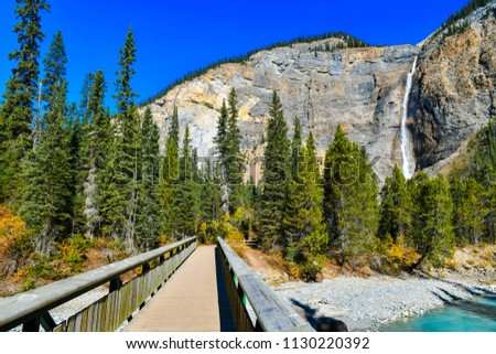 Takakkaw falls is the second highest waterfall in Western Canada, Yoho National Park,British Columbia. #1130220392