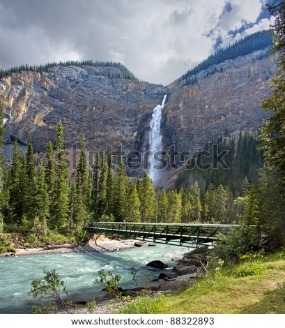 Takakkaw Falls, Yoho National Park, British Columbia, Canada - stock photo