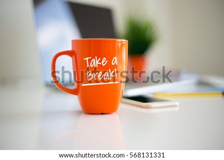 TAKE A BREAK Coffee Cup Concept