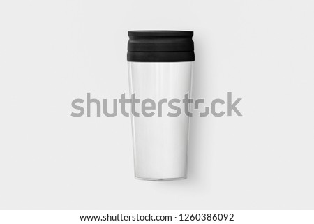 Take away coffee Cup Mug isolated on white background.High resolution photo. #1260386092