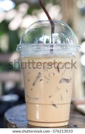 take away ice coffee #376213033