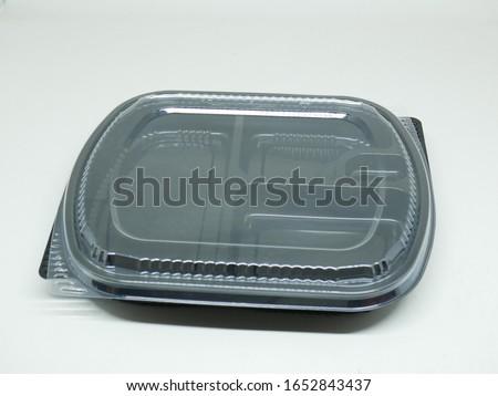 take away plastic food box package for restaurant, kafe, bento, etc Stok fotoğraf ©