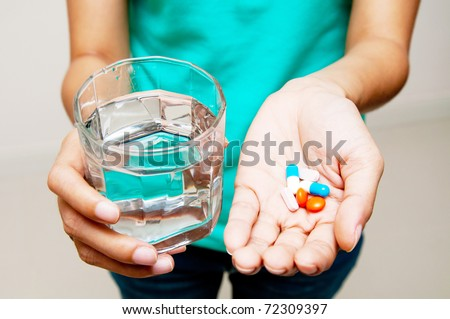 Take medicine and water