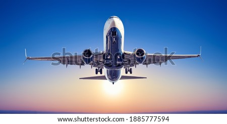 take off against a sunset Photo stock ©