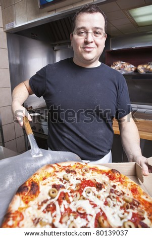 Take out Pizza chef