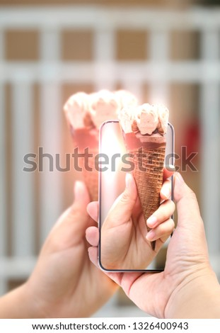 take picture of ice cream by smartphone