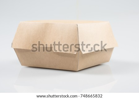 Takeaway burger Box On White Background #748665832