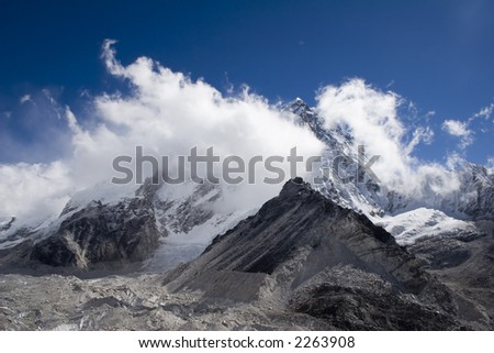 Taken near Gorak Shep towards Nuptse, Lhotse, and Everest.