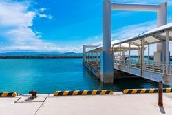 Taketomi port, Taketomi island, Okinawa, Japan
