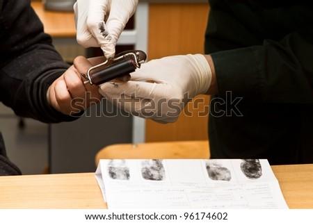 taking fingerprints