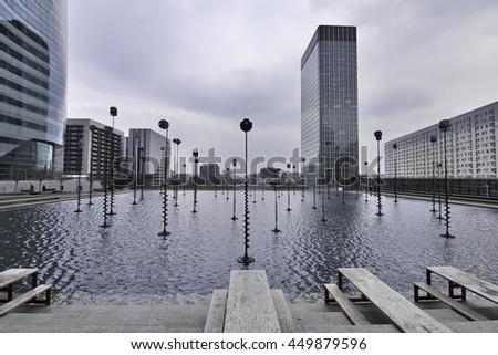 Takis Basin, La Defence, Paris, France