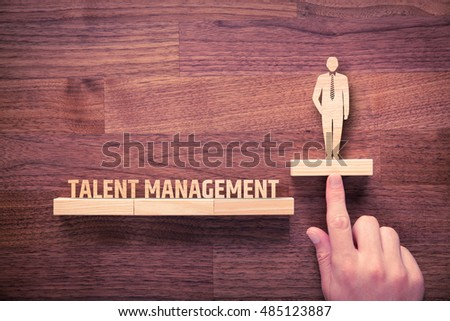 Talent management concept. Human resources recruiter helps employee with his personal development. #485123887