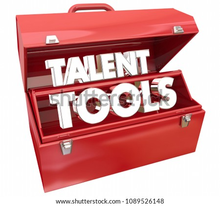 Talent Tools Toolbox Foster Skills Education 3d Render Illustration