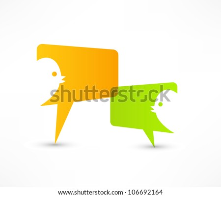 Talk, concept speech bubbles - stock photo