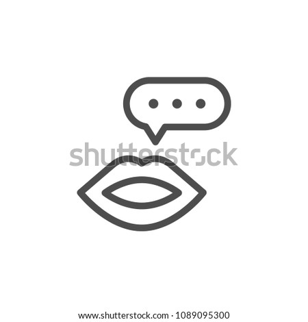 Talk line icon isolated on white