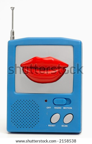 talkative radio - stock photo