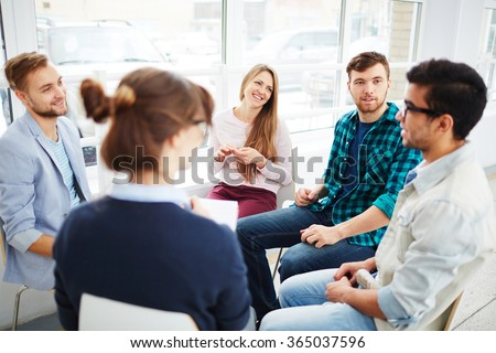 Talking in group