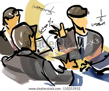Talks,Negotiations - stock photo