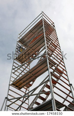 Tall aluminum scaffolds platforms for building construction