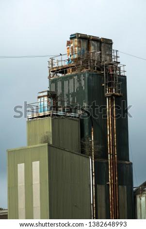 Tall bleak steel industrial tower example