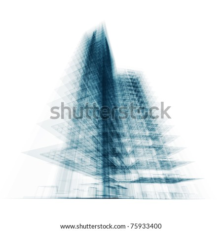 Tall building. Conceptual architecture project
