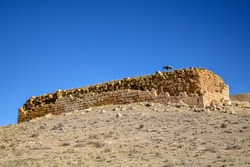 Tall-e Takht, the Pasargadae citadel at the UNESCO world heritage site Pasargadae in Iran