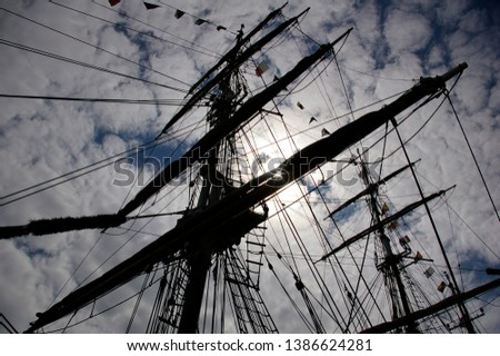 Tall Ships Mast and Clouds  #1386624281