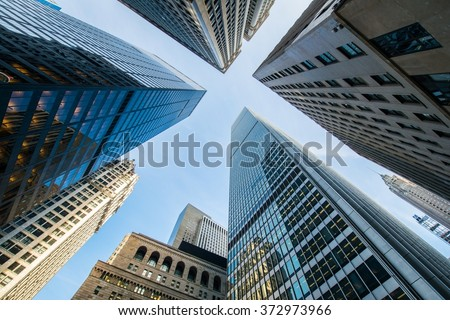 stock photo tall skyscrapers shot with perspective 372973966 - Каталог - 3d фотообои