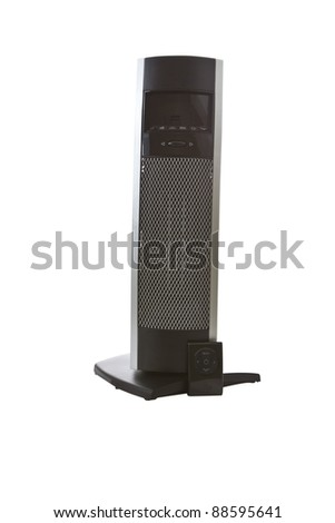 Tall space room heater on white background