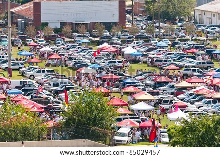 TALLAHASSEE, FL - SEPT. 26:  Florida State Seminole fans tailgating hours before the start of a home football game on Sept. 26, 2009 at Doak Campbell Stadium.
