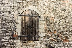 Tallinn, Estonia. Closeup view of a door in Kiek in de Kok, an artillery tower part of the fortifications and walls of the Old Town of Tallinn