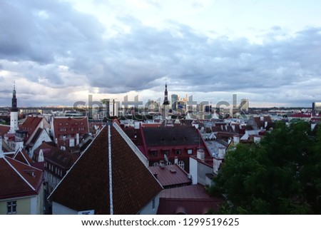 Tallinn panoramic view #1299519625