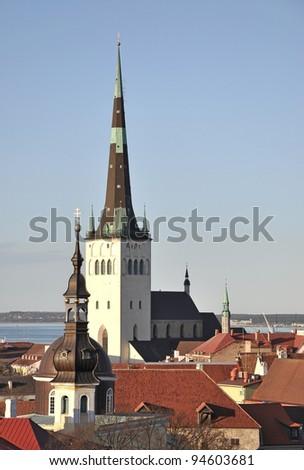 Tallinn view in the spring day, Estonia - stock photo