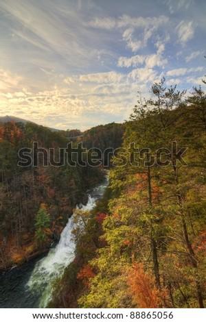 Tallulah Gorge in Tallulah Falls, Georgia, USA.